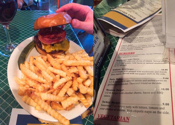 williams pub uptown burger specials