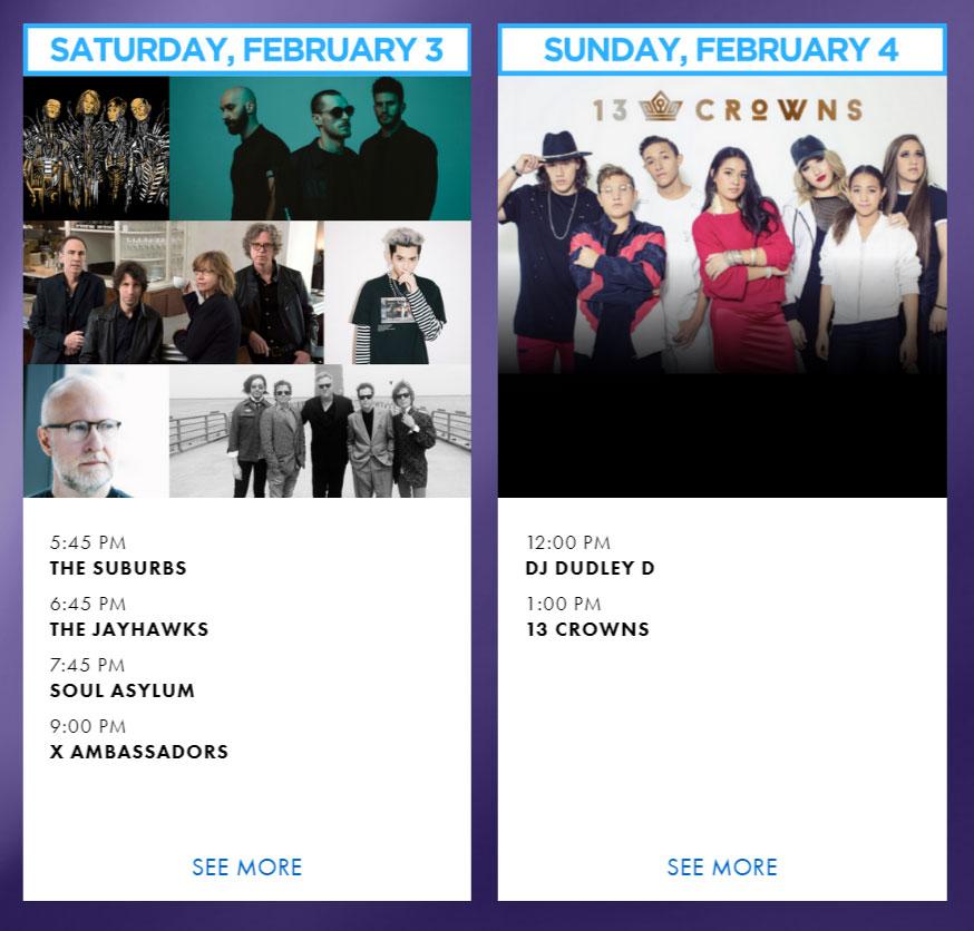 superbowl concerts