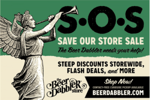 beer dabbler save our store banner
